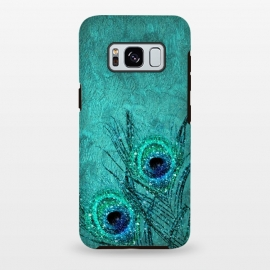Galaxy S8 plus  Peacock Sparkle Feathers by