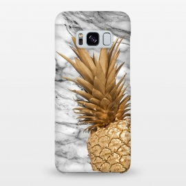 Gold Pineapple on Marble by Utart