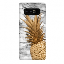 Galaxy Note 8  Gold Pineapple on Marble by Utart