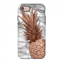 iPhone 8/7  Rose Gold Pineapple on Marble by Utart