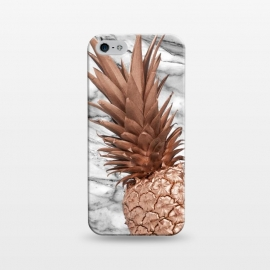 iPhone 5/5E/5s  Rose Gold Pineapple on Marble by Utart