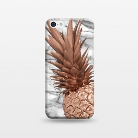 iPhone 5C  Rose Gold Pineapple on Marble by Utart