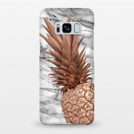 Galaxy S8+  Rose Gold Pineapple on Marble by Utart