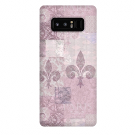 Galaxy Note 8  Romantic Vintage Pattern Soft Pink by Andrea Haase