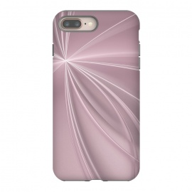 iPhone 8/7 plus  Fractal Light Rays Soft Pink by Andrea Haase