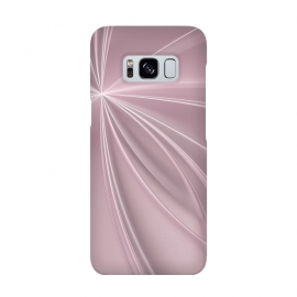 Galaxy S8  Fractal Light Rays Soft Pink by Andrea Haase