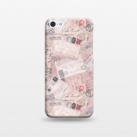 iPhone 5C  Vintage Letter Collage In Soft Pink by Andrea Haase