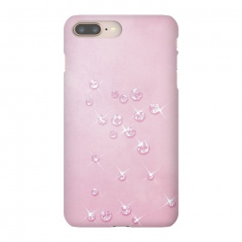 iPhone 8/7 plus  Sparkling Pink Rhinestones by Andrea Haase