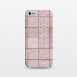 iPhone 5/5E/5s  Nostalgic Patchwork Tiles Soft Pink by Andrea Haase