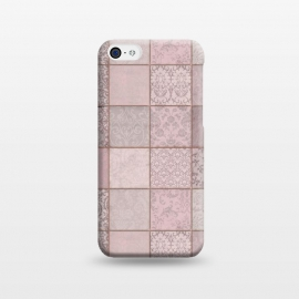 iPhone 5C  Nostalgic Patchwork Tiles Soft Pink by Andrea Haase