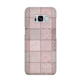 Galaxy S8  Nostalgic Patchwork Tiles Soft Pink by Andrea Haase