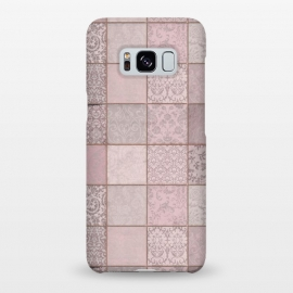 Galaxy S8+  Nostalgic Patchwork Tiles Soft Pink by Andrea Haase
