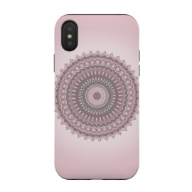 iPhone Xs / X  Soft Pink Mandala Design by Andrea Haase