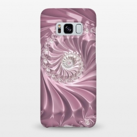 Galaxy S8+  Soft Pink Glamorous Fractal by Andrea Haase