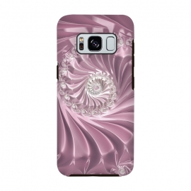 Galaxy S8  Soft Pink Glamorous Fractal by Andrea Haase