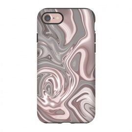 iPhone 8/7  Rose Gold Gray Marbled Paint by Andrea Haase