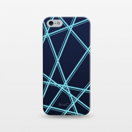 iPhone 5/5E/5s  BLUE LINES PATTERN by MALLIKA