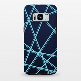 Galaxy S8 plus  BLUE LINES PATTERN by