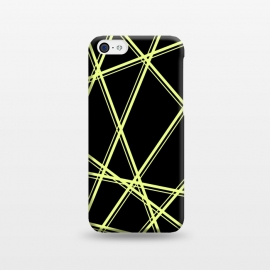 iPhone 5C  YELLOW LINES PATTERN by MALLIKA