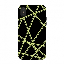 iPhone Xs / X  YELLOW LINES PATTERN by