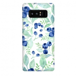 Galaxy Note 8  Blue Berry Pattern by Utart
