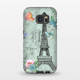 Galaxy S7  Vintage Paris by Utart (blossom, tree, spring, flower, pink, nature, season, floral, petal, beautiful, bloom, illustration, flora,  blooming, natural, beauty, botany, summer, springtime,  botanical, romantic, vintage,  romantic,teal,turquoise,flowers,retro,pattern,girly,trendy,modern,fashion,rose,roses,vintage,utart,paris,)