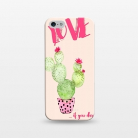 iPhone 5/5E/5s  Love if you dare- Cactus by