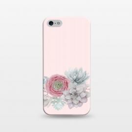 iPhone 5/5E/5s  Boho - Cactus and flower by Utart