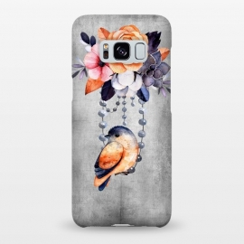 Galaxy S8+  Vintage flowers and bird by Utart