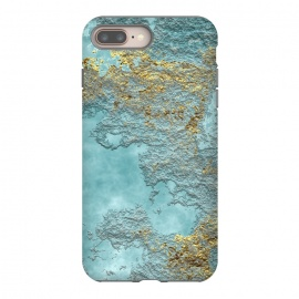 iPhone 8/7 plus  Gold Teal Minearal by Andrea Haase