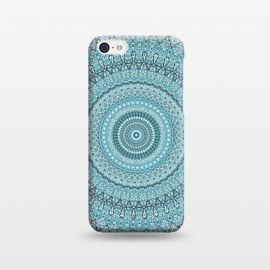 iPhone 5C  Teal Turquoise Mandala by Andrea Haase