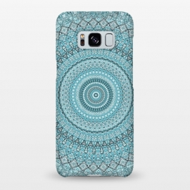 Galaxy S8+  Teal Turquoise Mandala by Andrea Haase