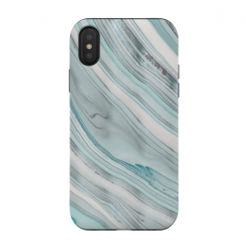 iPhone Xs/X  Teal Marble Elegance by Andrea Haase