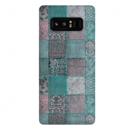 Galaxy Note 8  Vintage Teal Patchwork by Andrea Haase