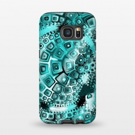 Galaxy S7  Teal Blue Fractal by Andrea Haase