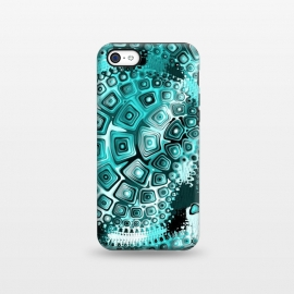 iPhone 5C  Teal Blue Fractal by Andrea Haase