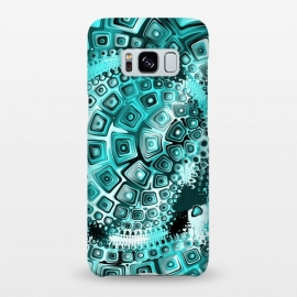 Galaxy S8+  Teal Blue Fractal by Andrea Haase