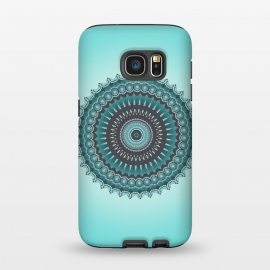 Galaxy S7  Mandala Turquoise by Andrea Haase