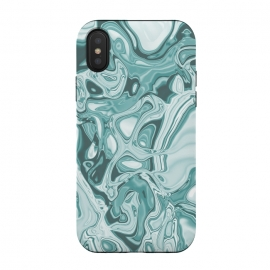 Faux Marble Teal Green by Andrea Haase