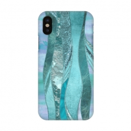 iPhone X  Turquoise Green Glamour by Andrea Haase