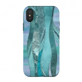 iPhone Xs / X  Turquoise Green Glamour by Andrea Haase (glitter, glamour, precious, glamorous, shiny,sparkle, luxury, elegant, feminine, exclusive, beautiful, pastel, turquoise, teal, green, blue,  shimmering, sparkle, extravagant, exquisite, fancy, fashionable,gift)