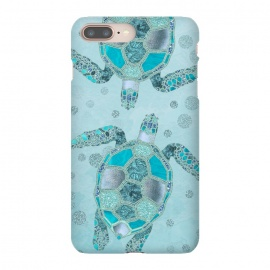 iPhone 8/7 plus  Turquoise Glamour Turtle by Andrea Haase