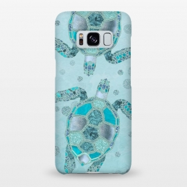 Galaxy S8+  Turquoise Glamour Turtle by Andrea Haase