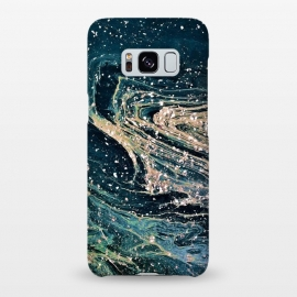 Galaxy S8+  Possible by Uma Prabhakar Gokhale (graphic, abstract, space, modern, dark, blue, green, black, stars, sky)