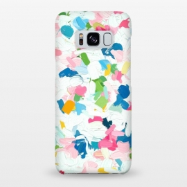 Galaxy S8+  Meadow v2 by Uma Prabhakar Gokhale (acrylic, pattern, bright, blue, pink, white, abstract, brush strokes, nature, impression, modern art)