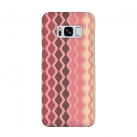 Galaxy S8  Falling Waves in Pink and Brown by Paula Ohreen