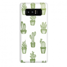 Galaxy Note 8  Succulents by  (Cacti, cactus, succulents, plant, succulent, love, pattern, green, nature, cool, modern, drawing)