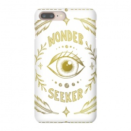 Wonder Seeker by Barlena (Eye, Wonder, Magical, Power, Feminism, Fantasy, Believe, Dream, Illustration, Typography, Drawing, Feathers, Gold, Pretty, Pattern)