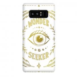 Galaxy Note 8  Wonder Seeker by  (Eye, Wonder, Magical, Power, Feminism, Fantasy, Believe, Dream, Illustration, Typography, Drawing, Feathers, Gold, Pretty, Pattern)