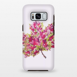 Galaxy S8 plus  Colorful Watercolor Autumn Leaf by